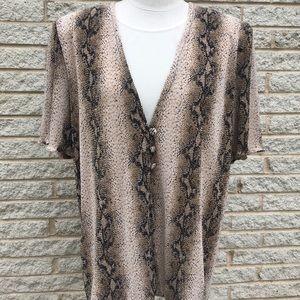 NWOT Leopard Print Soft Stretch Top!